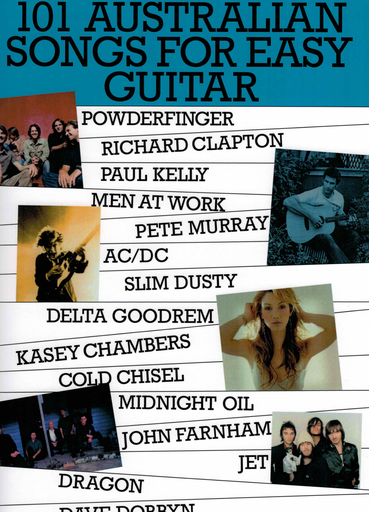 101 Australian Songs For Easy Guitar Volume 1 - Guitar|Vocal Music Sales Melody Line, Lyrics & Chords