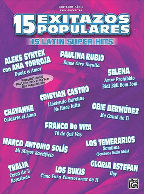 15 Exitazos Populares (15 Latin Super Hits) - Guitar Hal Leonard Easy Guitar