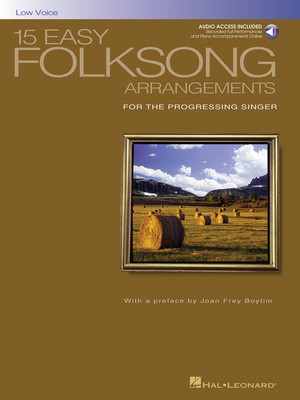 15 Easy Folksong Arrangements - Low Voice Introduction by Joan Frey Boytim - Various - Classical Vocal Low Voice Hal Leonard /CD