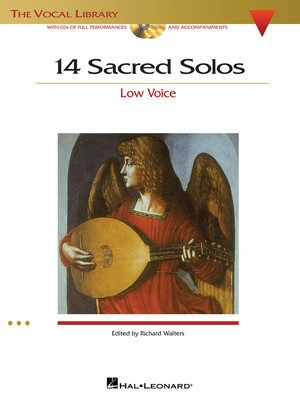14 Sacred Solos - The Vocal Library - Low Voice - Various - Classical Vocal Low Voice Hal Leonard /CD