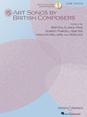15 Art Songs by British Composers - Low Voice, Book/CD - Various - Classical Vocal Low Voice Boosey & Hawkes Vocal Score /CD