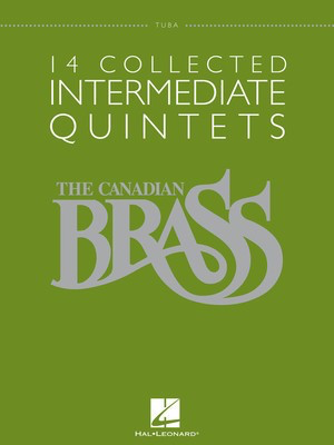 14 Collected Intermediate Quintets - Tuba (B.C.) - Various - Hal Leonard Brass Quintet