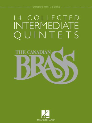 14 Collected Intermediate Quintets - Conductor's Score - Various - Hal Leonard Brass Quintet