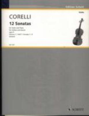 Corelli - 12 Sonatas Op5 Volume 1/1-6 - Violin/Piano/Cello Ad Lib edited by Kehr Schott ED4380
