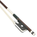 [K2-VA043] Viola Bow - KNOLL Brazilwood Nickel Mounted 4/4 w/Silver Lapping