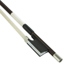 [K2-VN10034] Violin Bow - KNOLL Brazilwood Dodd Model Nickel Mounted with Silver Lapping 3/4