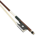 [K2-VN04312] Violin Bow - KNOLL Brazilwood Nickel Mounted 1/2 w/Silver Lapping
