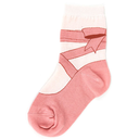 [708084820] Socks - children 4-7 years. pink with the image of a ballet shoe. Foor Traffic.