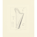 [70128555B] ***WAS $32.95***MATTED MUSICAL PRINTS HARP