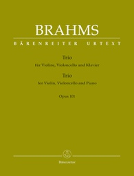 [S-BA9437] Brahms - Piano Trio #3 in Cmin Op101 - Violin/Cello/Piano Barenreiter BA9437