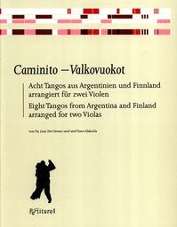 [S-PV2807] Caminito - Valkovuokot: 8 Tangos from Argentina & Finland - Viola Duet arranged by del Grosso/Alakotila Partitura PV2807