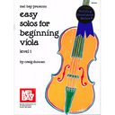 [S-MB94660] Easy Solos for Beginning Viola - Viola/Piano Accompaniment by Duncan Mel Bay 94660