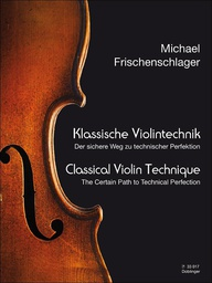 [S-DM33017] Classical Violin Technique - Violin by Frischenschlager Doblinger DOB33017