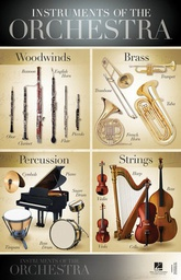 "[S-289241] Poster - Instruments of the Orchestra - 22x34"" Poster Hal Leonard 289241"