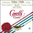 [C1-700MB] Corelli Crystal Violin, Set (Med/Ball), 4/4